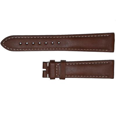 Omega 19mm Brown Leather Watch Strap 98000409