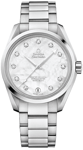 Omega Seamaster Aqua Terra Pearl Diamond Dial Women's Watch 231.10.39.21.55.002