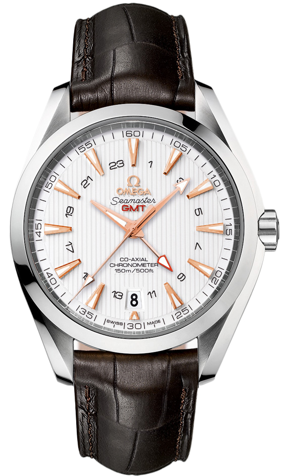 New Omega Seamaster Aqua Terra GMT 231.13.43.22.02.004 Steel Watch Silver Dial Caliber 8605