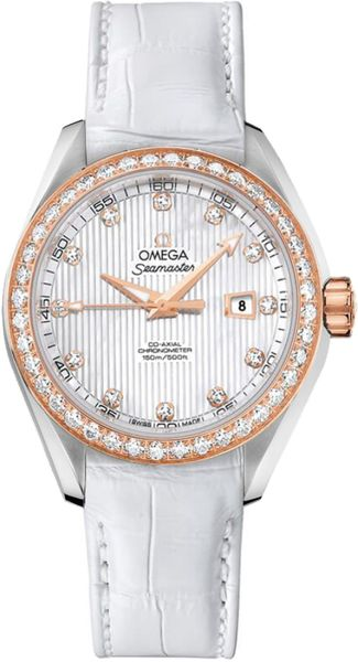 Omega Seamaster Aqua Terra 18k Rose Gold Women's Diamond Watch 231.28.34.20.55.002