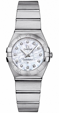 Omega Constellation Mother of Pearl Diamond Women's Watch 123.10.24.60.55.001