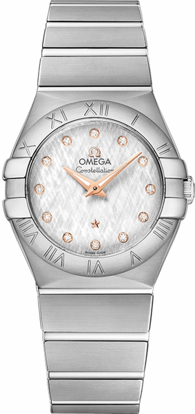 Omega Constellation Diamond Dial Women's Watch 123.10.27.60.52.001
