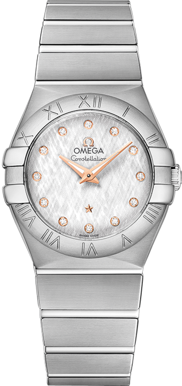 OMEGA | Omega Constellation Diamond Dial Women'S Watch 123.10.27.60.52.001 | Goxip