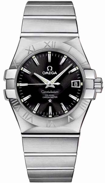 Omega Constellation Black Dial Steel Watch 123.10.35.20.01.001