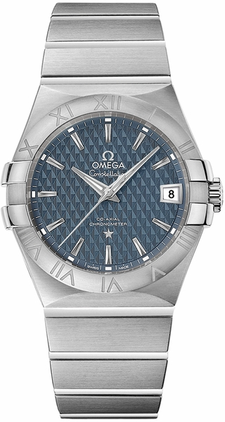 Omega Constellation Blue Men's Steel Watch 123.10.35.20.03.002