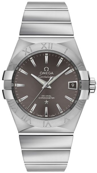 Omega Constellation Co-Axial 38mm Grey Dial Men's Watch 123.10.38.21.06.001