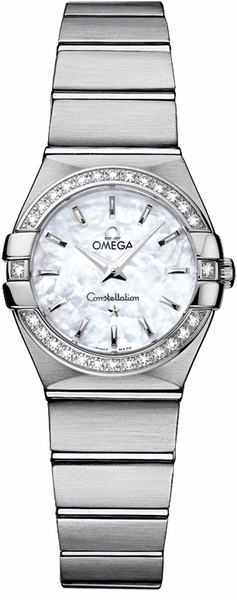 Omega Constellation White Mother of Pearl Dial 24mm Women's Watch 123.15.24.60.05.001