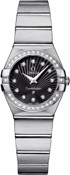 Omega Constellation Black Supernova Dial Diamond Watch 123.15.24.60.51.001