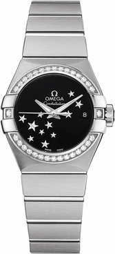 Omega Constellation Black Dial Women's Watch 123.15.27.20.01.001