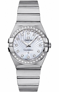 Omega Constellation White Mother of Pearl Diamond Women's Watch 123.15.27.60.55.002