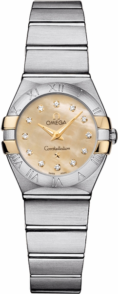 Omega Constellation 24mm Diamond Dial Women's Watch 123.20.24.60.57.002