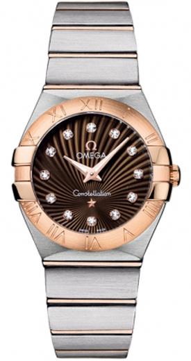 Omega Constellation Brown Dial Women's Watch 123.20.27.60.63.001
