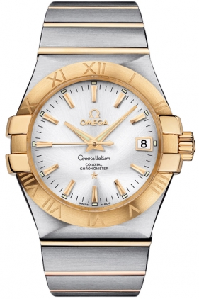 Omega Constellation Two-Tone Silver Dial 123.20.35.20.02.002