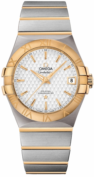Omega Constellation Yellow Gold & Steel Watch 123.20.35.20.02.006