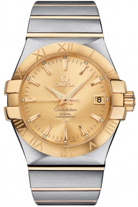 Omega Constellation Gold Dial Dress Watch 123.20.35.20.08.001