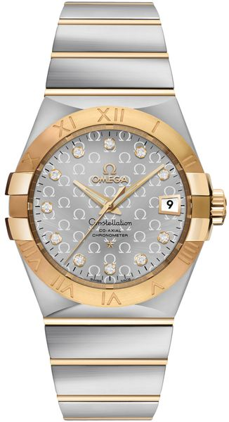 Omega Constellation Silver Omega Logo Pattern Dial Men's Luxury Watch 123.20.35.20.52.004