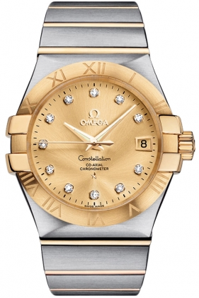 Omega Constellation Gold Dial Watch for Men 123.20.35.20.58.001