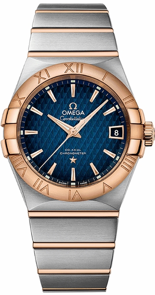 Omega Constellation Blue Dial Luxury Watch 123.20.38.21.03.001