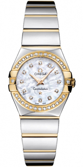 a6d5b90f6f2 123.25.24.60.55.007 Omega Constellation Ladies Polished Gold   Steel ...