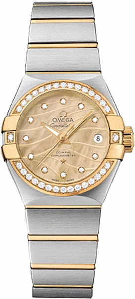Omega Constellation Champagne Mother of Pearl Dial Women's Watch 123.25.27.20.57.002
