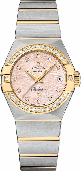 Omega Constellation Coral Mother of Pearl Dial Women's Watch 123.25.27.20.57.005