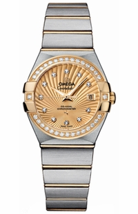 Omega Constellation Diamond Champagne Dial Women's Watch 123.25.27.20.58.001
