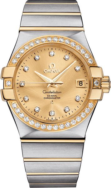 Omega Constellation Gold & Diamond 35mm Women's Watch 123.25.35.20.58.001