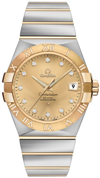 Omega Constellation Gold & Diamond Men's Watch 123.25.35.20.58.002