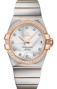 Omega Constellation Co-Axial Chronometer Diamond Men's Watch 123.25.38.21.52.001