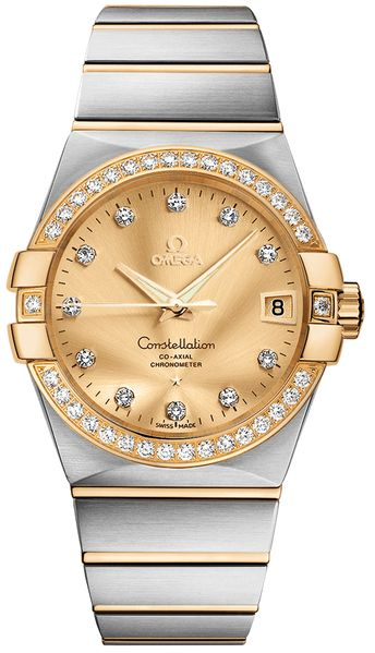 Omega Constellation Champagne Dial 38mm Men's Luxury Watch 123.25.38.21.58.001