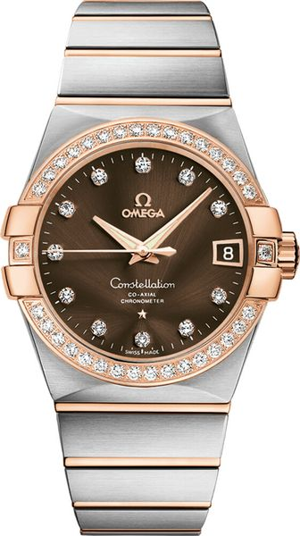 Omega Constellation Brown Dial Diamond Men's Watch 123.25.38.21.63.001