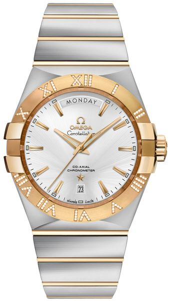 Omega Constellation Day-Date Diamond Men's Dress Watch 123.25.38.22.02.002
