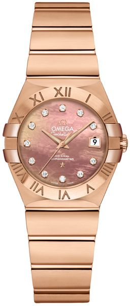 Omega Constellation Pearl Brown and Diamond Dial Women's Watch 123.50.27.20.57.001