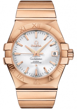 Omega Constellation Solid Rose Gold Men's Watch 123.50.35.20.02.001