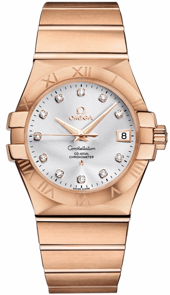 Omega Constellation Rose Gold Men's Watch 123.50.35.20.52.001