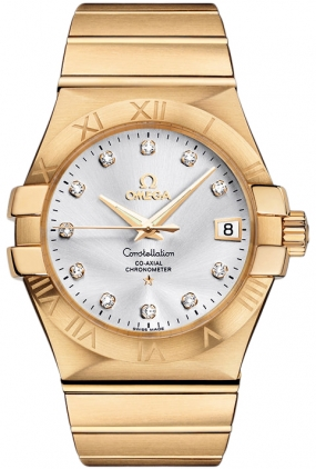 Omega Constellation Yellow Gold Men's Watch 123.50.35.20.52.002