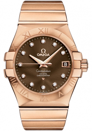 Omega Constellation Rose Gold & Diamond Watch 123.50.35.20.63.001