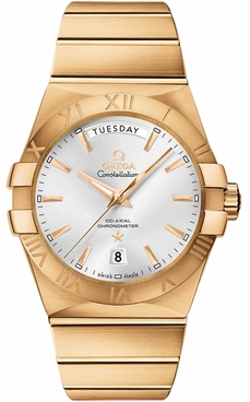 Omega Constellation Solid 18k Yellow Gold Men's Watch 123.50.38.22.02.002