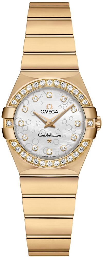 123 55 24 60 55 016 Omega Constellation Ladies Mini White