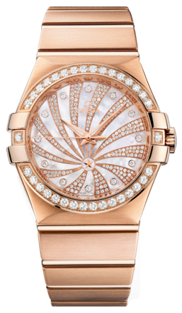 Omega Constellation Rose Gold & Diamond 123.55.35.20.55.002
