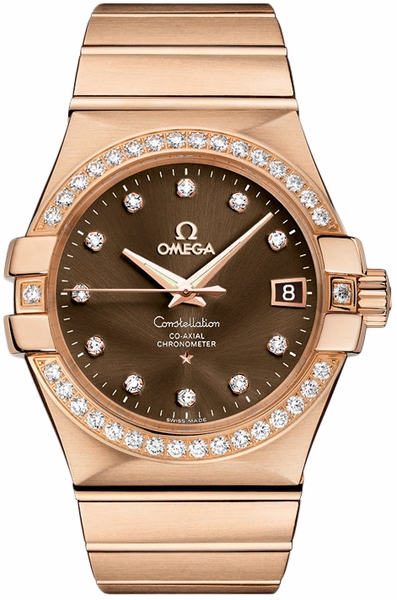 Omega Constellation Rose Gold Watch 123.55.35.20.63.001