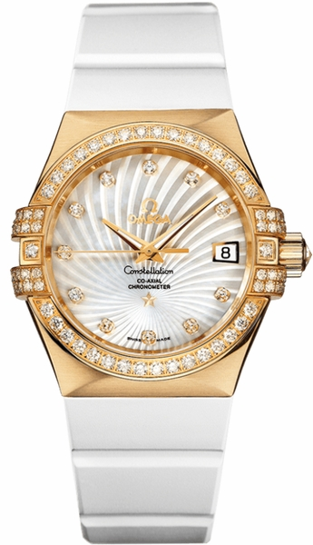 Omega Constellation Solid Gold Watch 123.57.35.20.55.003
