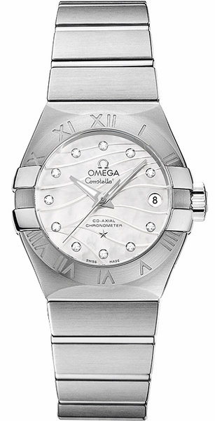 Omega Constellation 27mm Luxury Women's Watch 123.10.27.20.55.002