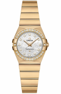 Omega Constellation Diamond & Solid Yellow Gold Ladies Luxury Watch 123.55.24.60.55.016