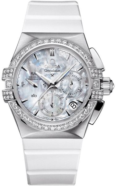 Omega Constellation Double Eagle Chronograph Women's Watch 121.17.35.50.05.001