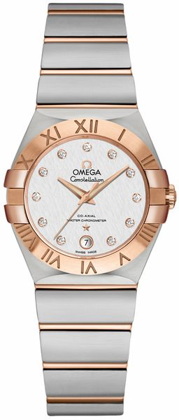 Omega Constellation Two Tone Women's Watch 127.20.27.20.52.001