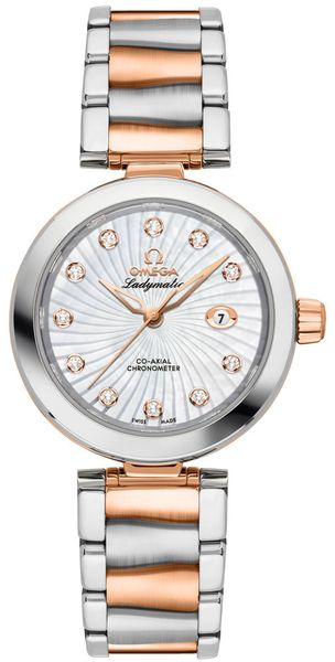 Omega De Ville Ladymatic Mother of Pearl Ladies Luxury Watch 425.20.34.20.55.001