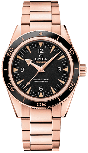 233 60 41 21 01 001 Omega Seamaster 300 Co Axial 41mm Mens Rose Gold