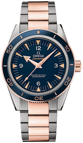 233 60 41 21 03 001 Omega Seamaster 300 Co Axial 41mm Mens Blue Two