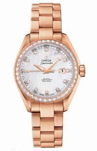 Omega Seamaster Aqua Terra Solid 18k Rose Gold Women's Watch 231.55.34.20.55.002